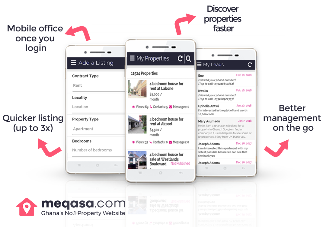 Benefits of meQasa app for agents