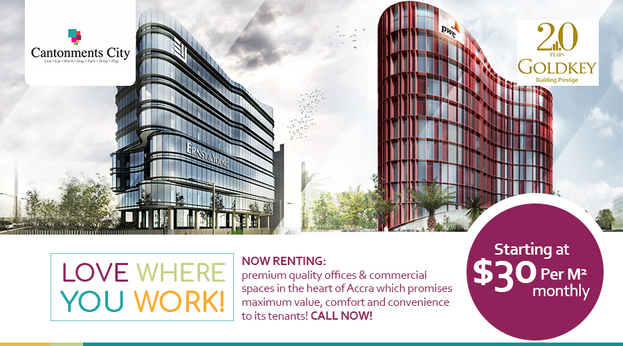 Premium quality offices and commercial spaces at Cantomnets City by Goldkey Properties starting at $30 per square metre per month