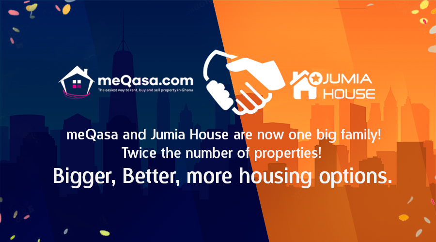 Jumia House Ghana merges with meQasa to bring you bigger, better real estate search.