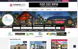 meqasa.com Home Page for property listing