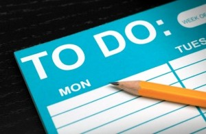 Real estate agent's daily to-do list