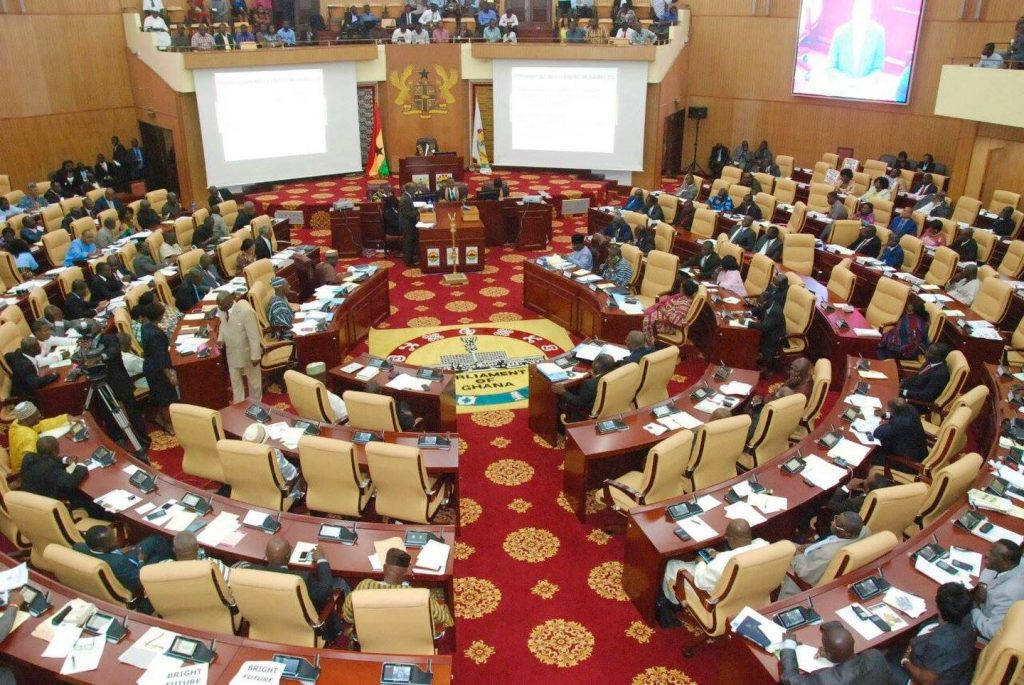 A seating in the Parliament of Ghana. The parliament will decide on the fate of the Ghana Rent Act.