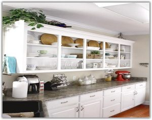 Organised kitchen. cabinet