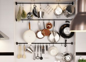organised kitchen.shelf hooks