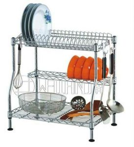 organised kitchen. Kitchen racks