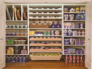organised kitchen. pantry