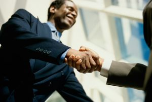 black men shaking hands