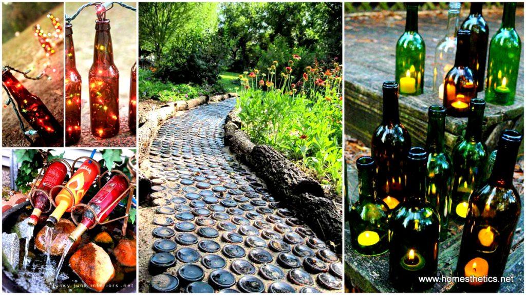 Creative ways of upcycling wine bottles