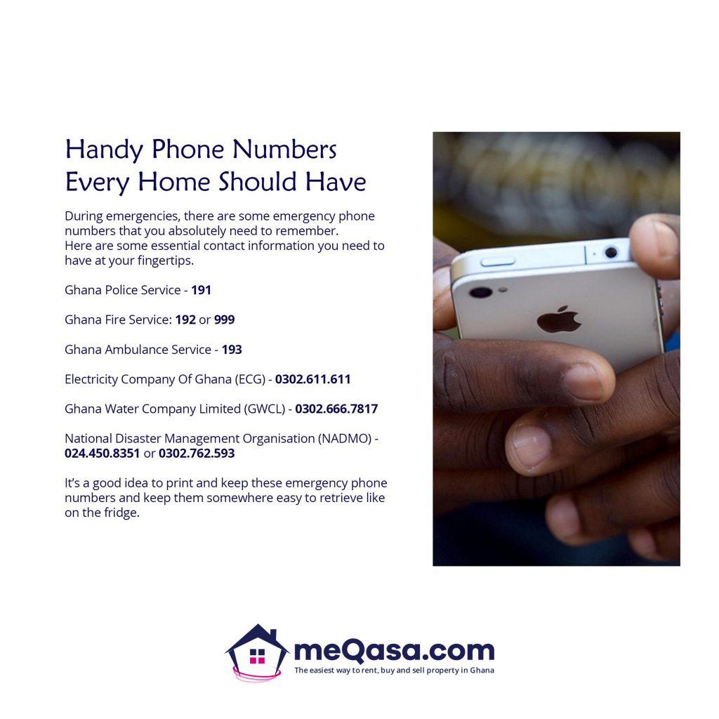 Handy Emergency Phone Numbers Ghana | Fire Safety