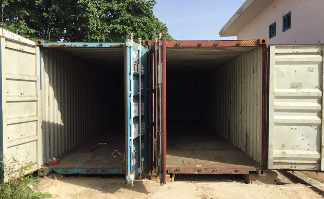 2 40ft Shipping Containers