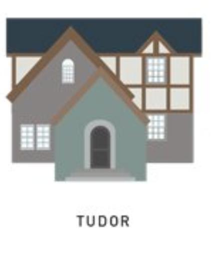 tudor house style 1985 - Present