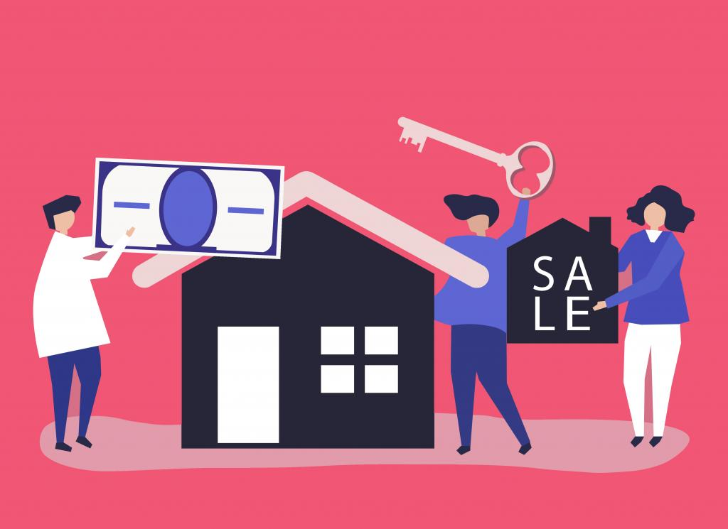 vector illustration of realtors or real estate agents