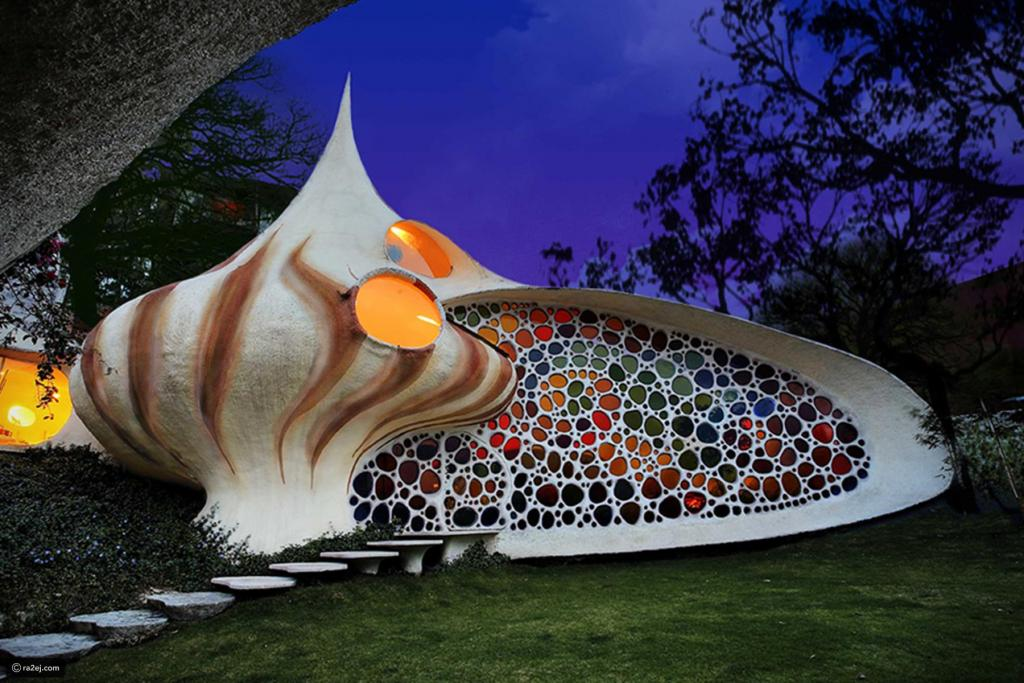 Quriky Giant Seashell House