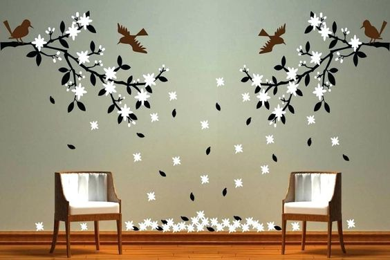 35+ Wall Paintings For Living Room Ideas Gif