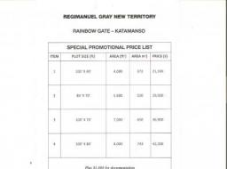 land for sale at Katamanso